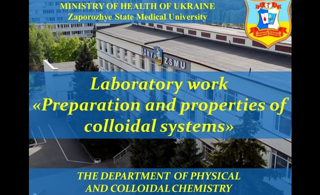 LW Preparation and properties of colloidal systems