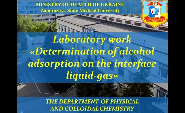 LW Determination of alcohol adsorption on the interface liquid-gas